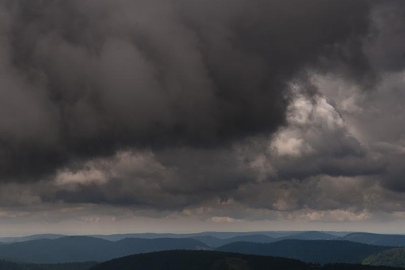 Wolken boven de Vogezen